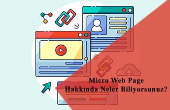 Micro Web Page Nedir?