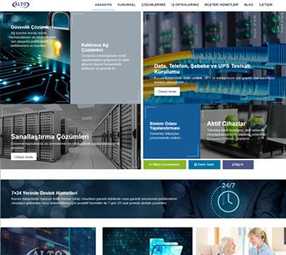 web tasarım izmir alto teknoloji alt yapı firması website tasarımı