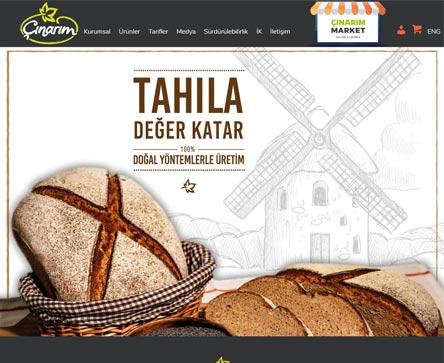 izmir web tasarım çınarım fırın unlu mamuller e-ticaret sitesi tasarımı