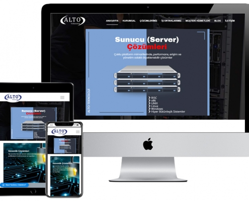alto teknoloji web tasarım server yazılım website