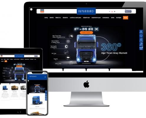 buyukkarcı web tasarım izmir ticari arac website dijital pazarlama hizmeti