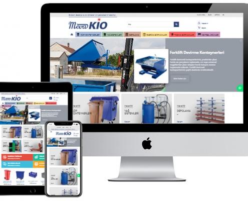 meva kio e-ticaret sitesi izmir web tasarım temizlik konteyner website